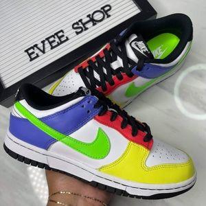 Nike Dunk Low 💛❤🤍💚💙